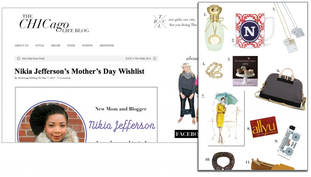 Nikia's Mother's Day Wishlist