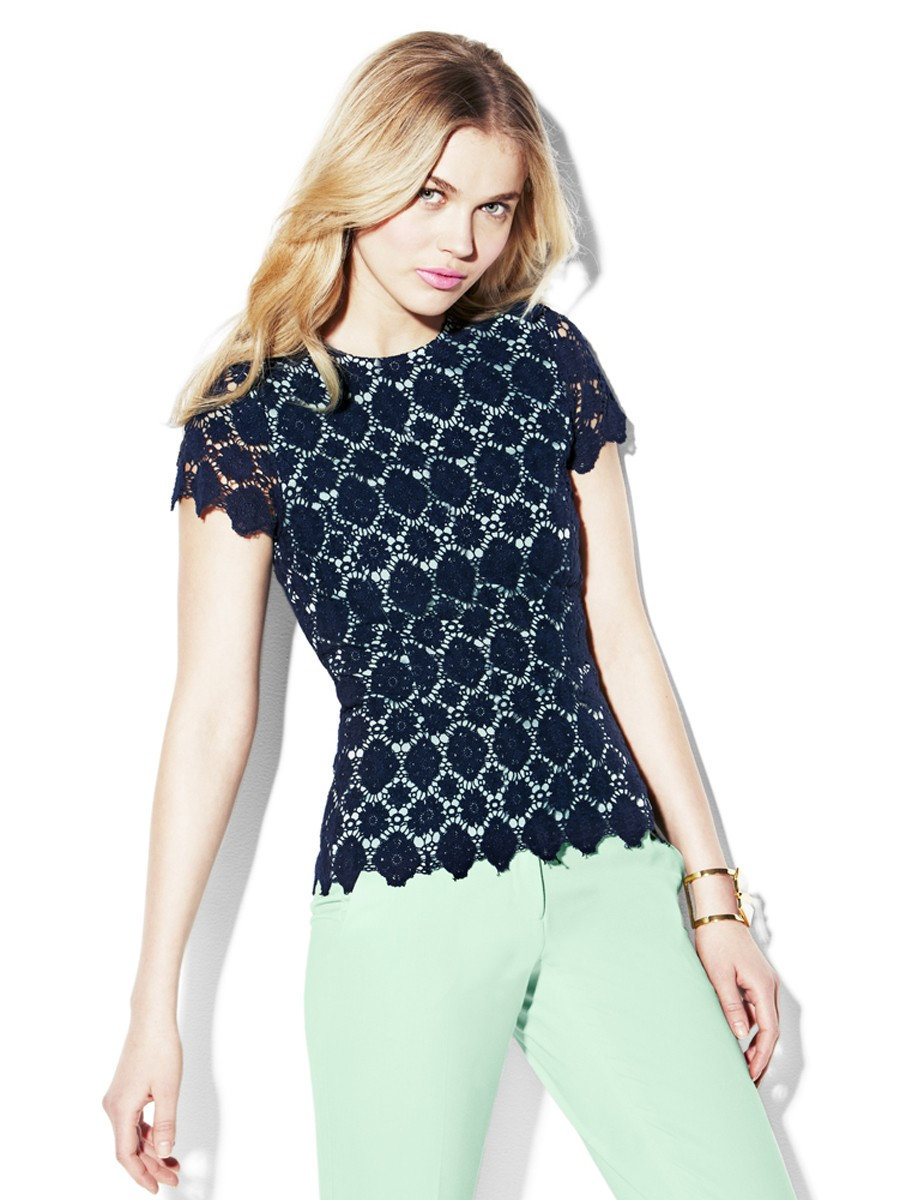 Embroidered Lace Top 129