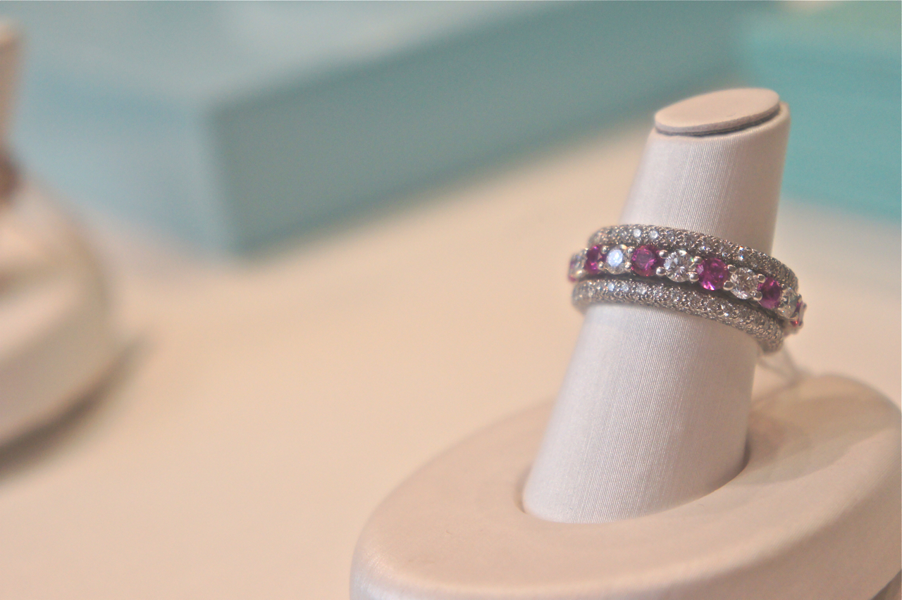 Diamond And Pink Sapphire Wedding Band 99 Unique SONY DSC